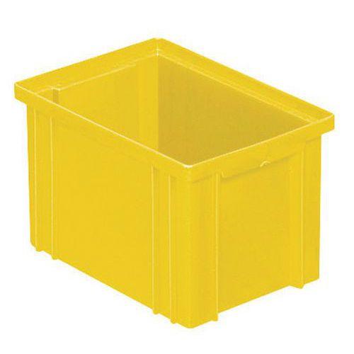 Barevná plastová přepravka PS (3,6 l), žlutá
