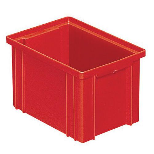 Barevná plastová přepravka PS (3,6 l), červená