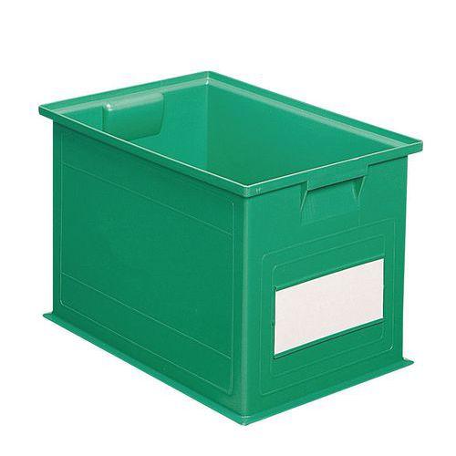 Barevná plastová přepravka PS (40,5 l), zelená - Prodloužená záruka na 10 let