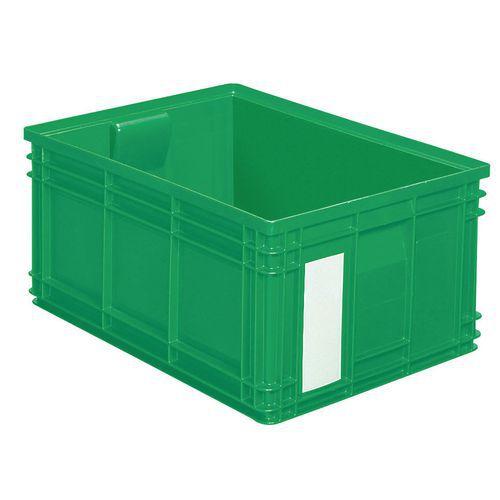 Barevná plastová přepravka PS (85 l), zelená - Prodloužená záruka na 10 let