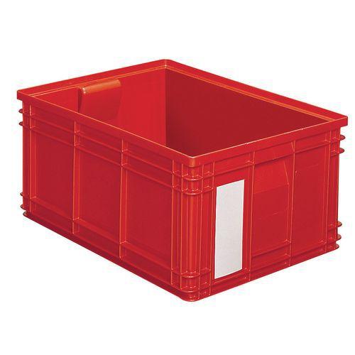 Barevná plastová přepravka PS (85 l), červená