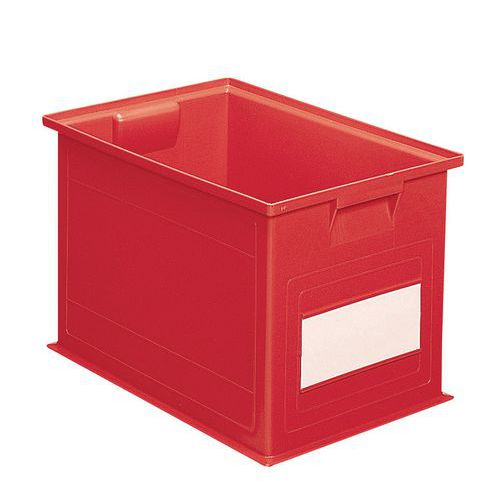 Barevná plastová přepravka PS (40,5 l), červená