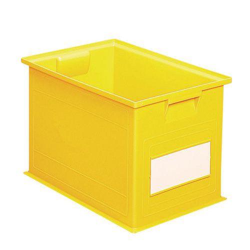 Barevná plastová přepravka PS (40,5 l), žlutá