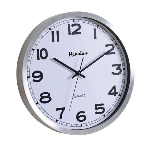 Analogové hodiny Q1 Manutan, autonomní quartz, průměr 35,5 cm