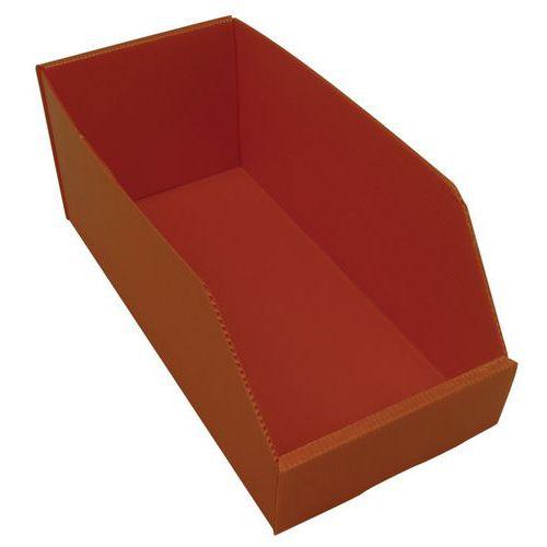 Plastový box PP, 15,5 x 18 x 38 cm, oranžový