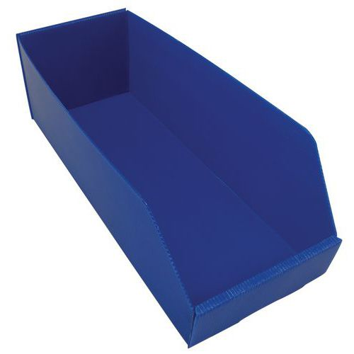 Plastový box PP, 15,5 x 19 x 48 cm, modrý
