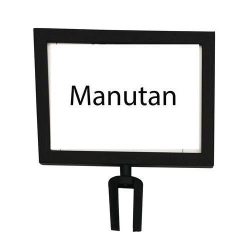 Informační tabulka k zahrazovacím sloupkům Manutan 2 m, černá, h