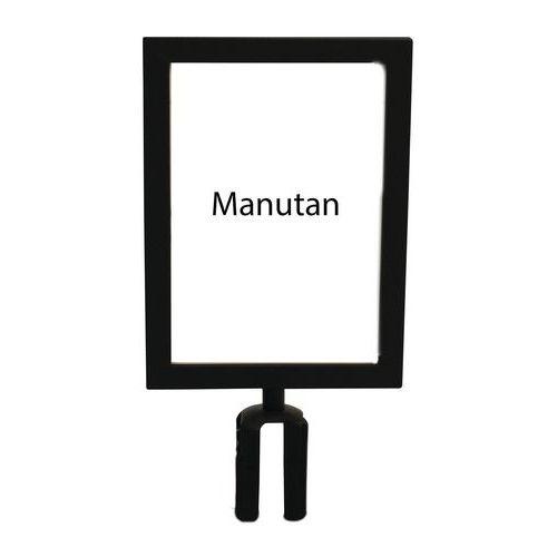 Informační tabulka k zahrazovacím sloupkům Manutan 2 m, černá, v