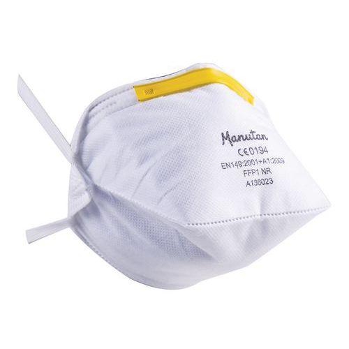 Skládací respirátor Manutan, stupeň ochrany FFP1, 20 ks