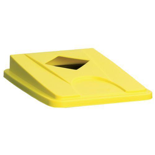 Víko na odpadkové koše Manutan 60 a 80 l, žluté