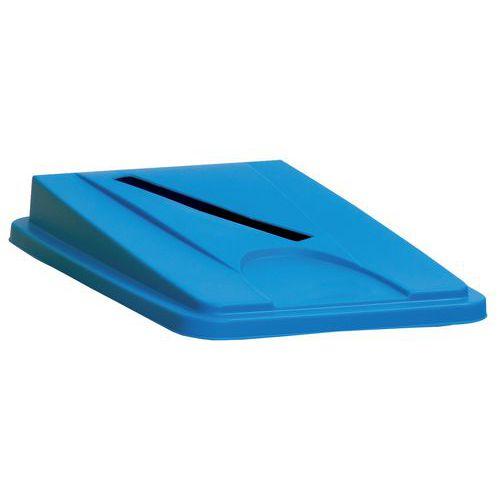 Víko na odpadkové koše Manutan 60 a 80 l, modré