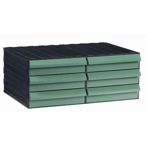 Modulový organizér PS, 6 zásuvek, černý/zelený - Prodloužená záruka na 10 let