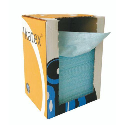 Průmyslové textilní utěrky Manutan, zelené, 1vrstvé, 150 útržků
