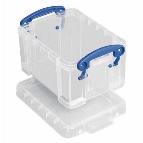 Plastové úložné boxy s víkem na klip, průhledné