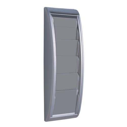EUROKRAFT Nástěnný držák prospektů ,5 přihrádek pro formát DIN A5 ,hliníkově stříbrná, bal.j. 2 ks