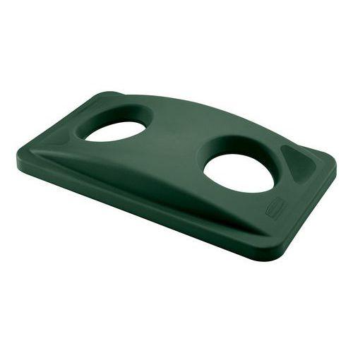 Víko na odpadkové koše Rubbermaid Slim Jim, 60 a 87 l, zelené