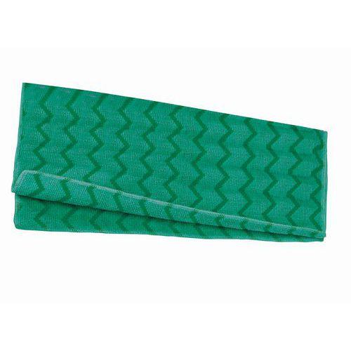 Univerzální mikrovláknové utěrky, 12 ks, zelené