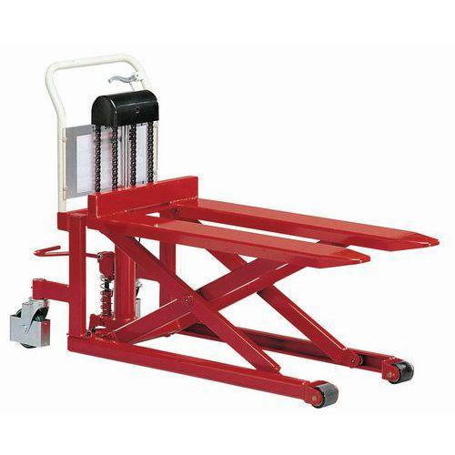 Nůžkový paletový vozík, do 500 kg, výška zdvihu 833 mm