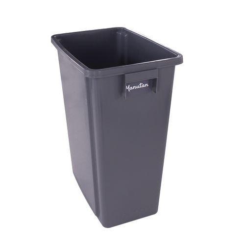 Plastový odpadkový koš Manutan na tříděný odpad, objem 80 l