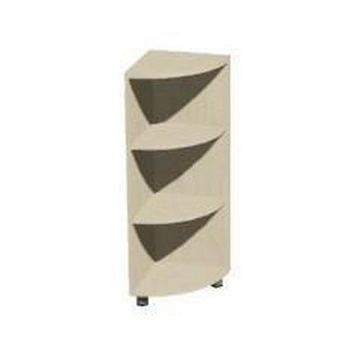 Přístavbová rohová skříň pravý Set, 118 x 40 x 40 cm, otevřená, dezén javor jersey