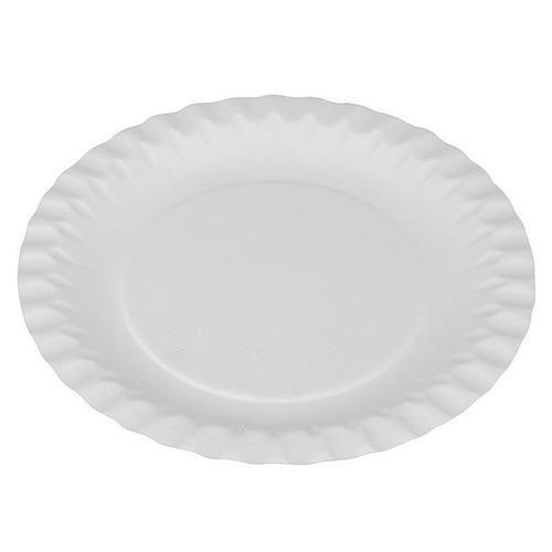 Bílé papírově talíře, průměr 15 cm