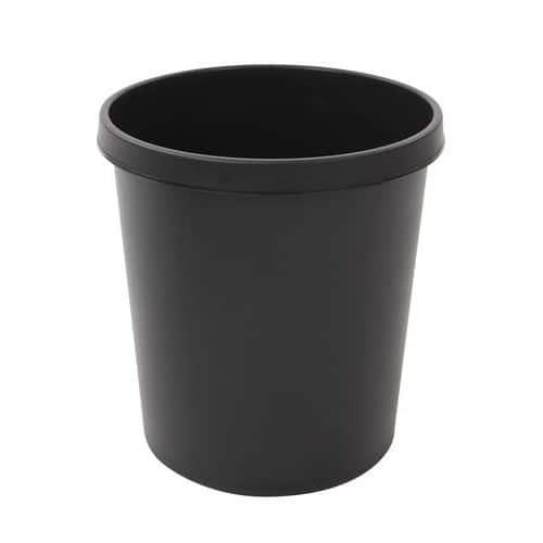 Plastový odpadkový koš Plastic, objem 18 l, černý