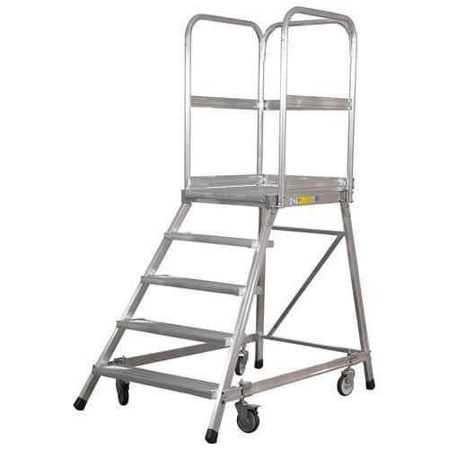 Pojízdný hliníkový/ocelový plošinový žebřík Zarges, 8 stupňů