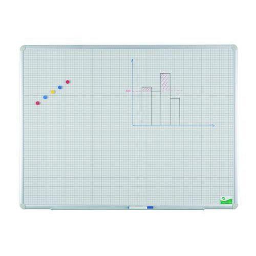 Keramická tabule Magnetic s rastrem, 1 500 x 1 000 mm