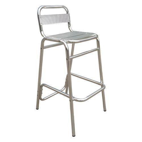 Barová židle Manutan, stříbrná