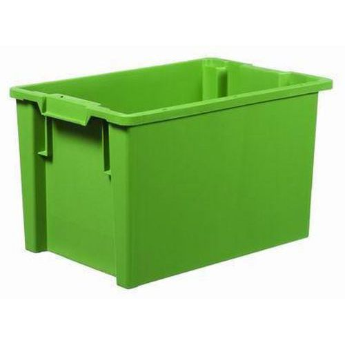 Stohovatelná zasouvací přepravka PP, zelená, 66 l - Prodloužená záruka na 10 let