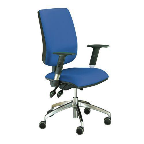 Kancelářská židle Yoki Lux, modrá - Prodloužená záruka na 10 let