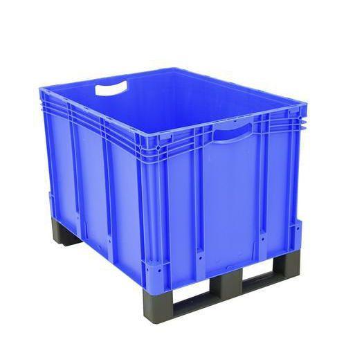 Plastová přepravka s ližinami, 206 l