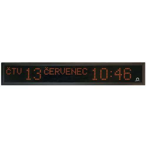 Digitální hodiny s kalendářem, dvoustranné, červené, stropní záv