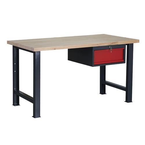 Dílenský stůl Weld se zásuvkou, 84 x 150 x 80 cm, antracit