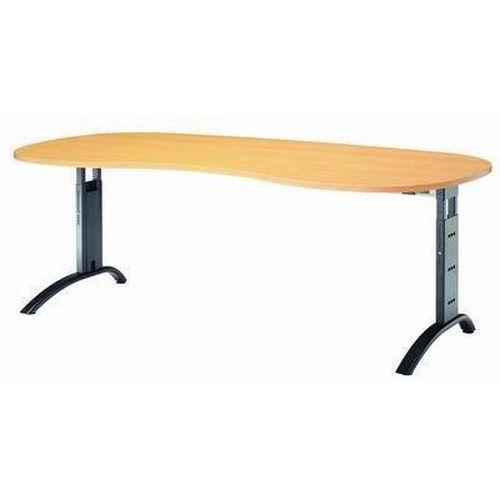 Výškově nastavitelný kancelářský stůl Baron Mittis, 200 x 100 x 65 - 85 cm, oblé provedení - Prodloužená záruka na 10 let