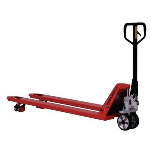 Paletový vozík BF2000AR s dlouhými vidlicemi, do 2 000 kg, gumov