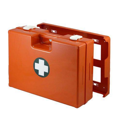 Plastový kufr první pomoci se stěnovým držákem, 33,8 x 44,3 x 14