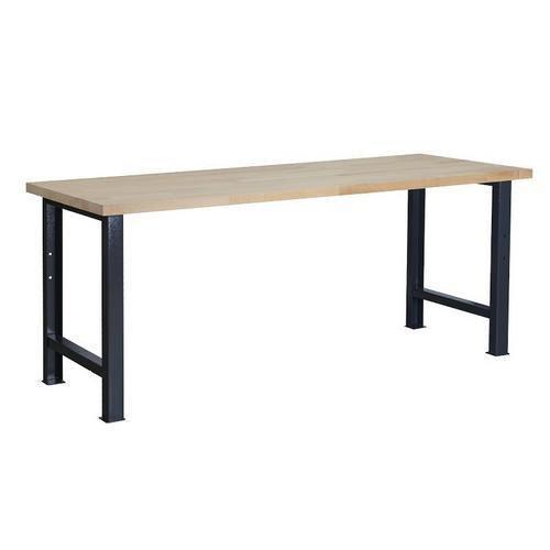 Dílenský stůl Weld, 84 x 200 x 80 cm, antracit
