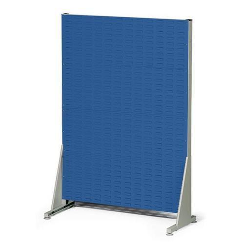 Jednostranný PERFO regál, výška 147 cm, modrý