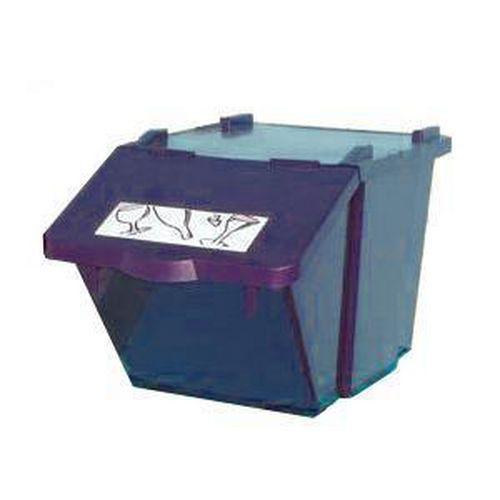 Plastový odpadkový koš na tříděný odpad, objem 45 l, modrý - Prodloužená záruka na 10 let