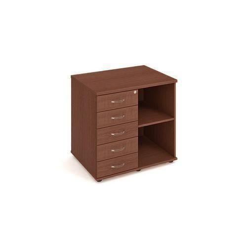 Nízká široká skříň Strong, 75,5 x 80 x 40 cm, se zásuvkami - lev