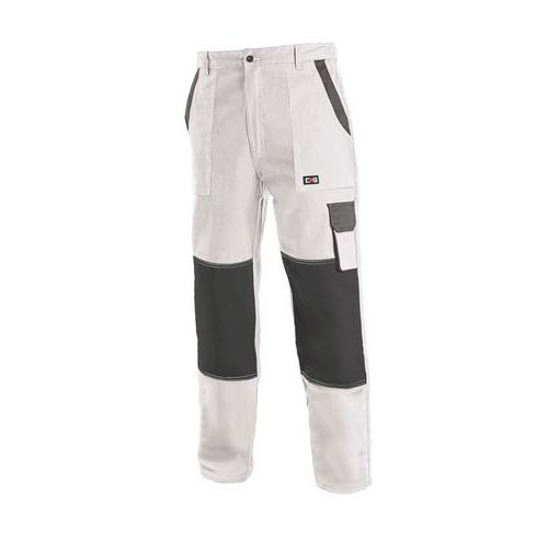 Pánské montérkové kalhoty CXS, bílé/šedé