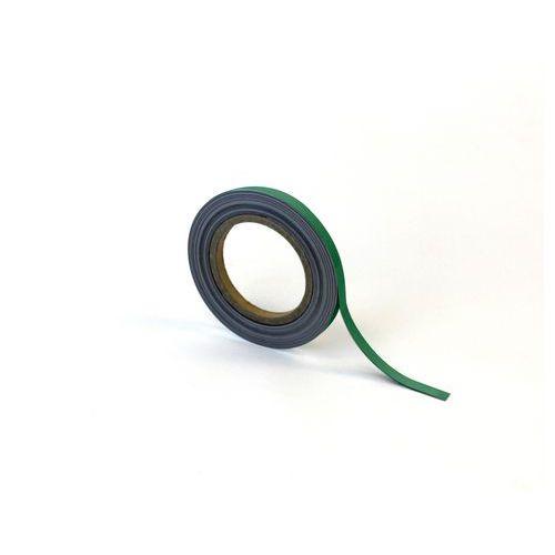 Magnetická páska na regály Manutan, 10 m, zelená, šířka 10 mm