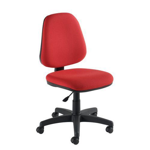 Manutan Kancelářská židle Single, červená - Prodloužená záruka na 10 let