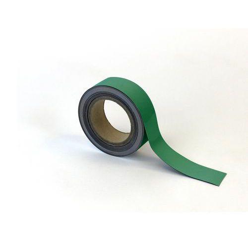 Magnetická páska na regály Manutan, 10 m, zelená, šířka 40 mm
