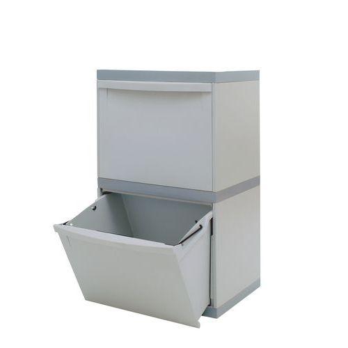 Plastový odpadkový koš EKOMODUL na tříděný odpad, objem 2 x 30 l - Prodloužená záruka na 10 let