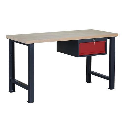 Dílenský stůl Weld se zásuvkou, 84 x 150 x 68,5 cm, antracit