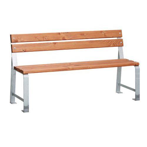 Parkové lavičky Poppy s opěradlem