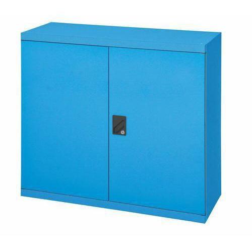 Kovová dílenská skříň, 100 x 104,4 x 62,5 cm, modrá