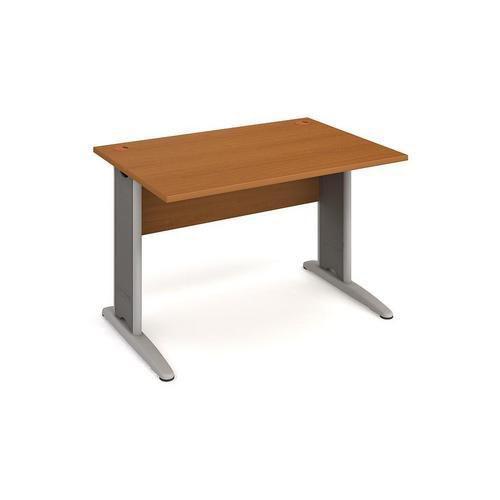 Kancelářský stůl Cross, 120 x 80 x 75,5 cm, rovné provedení, dezén třešeň